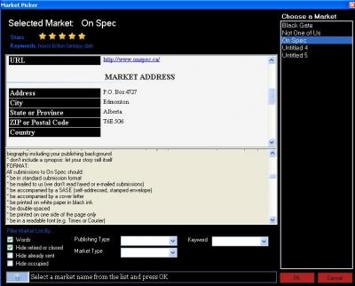 New Market Pick Screen